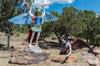 Photo: Statue of St. Michael the Archangel, Pecos, NM