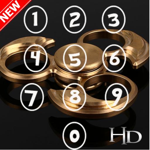 Fidget Spinners Gold Lock Screen HD