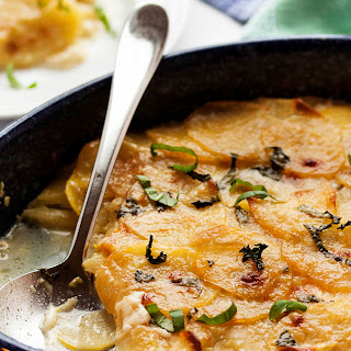 Sunny Yellow Squash and Potato Gratin