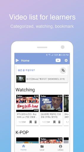 LingoTube - Language learning with streaming video 1.5.2 screenshots 2