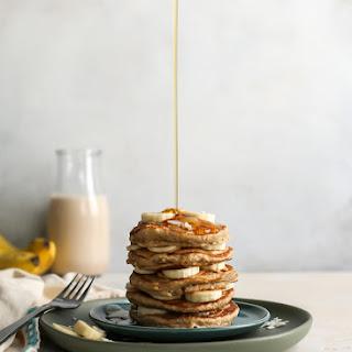 Healthy Oatmeal Banana Pancakes [DF, GF].