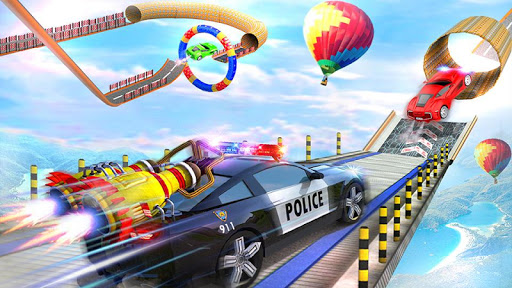 Police Car Chase GT Racing Stunt: Ramp Car Games android2mod screenshots 1