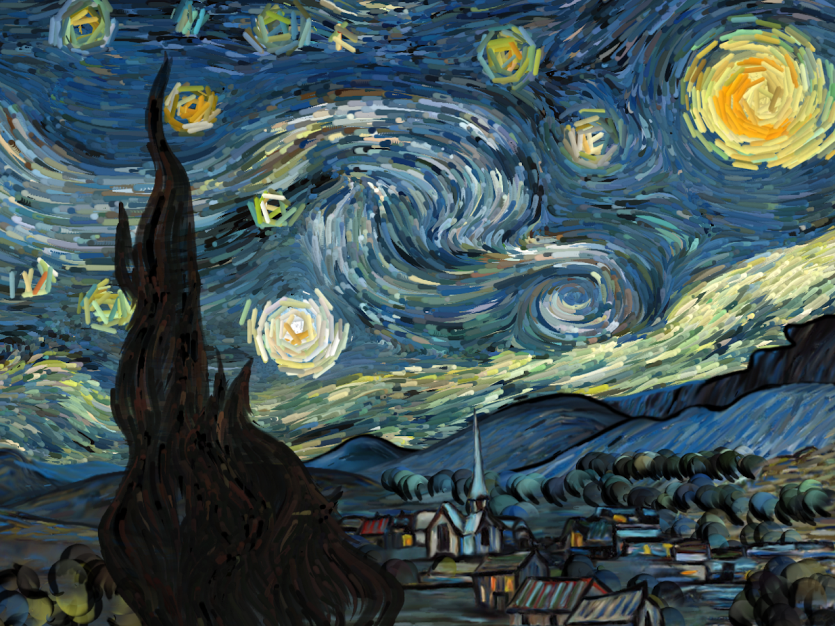 Starry Night interactive- screenshot
