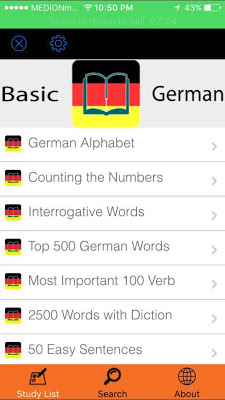 Basic German - screenshot