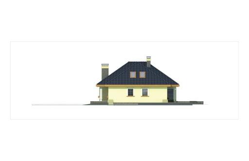 Akacja II bliźniak wersja B z pojedynczym garażem - Elewacja prawa