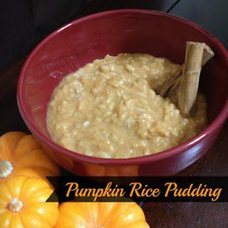 Pumpkin Rice Pudding a