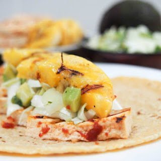 Chipotle tofu tacos with plantain #SundaySupper