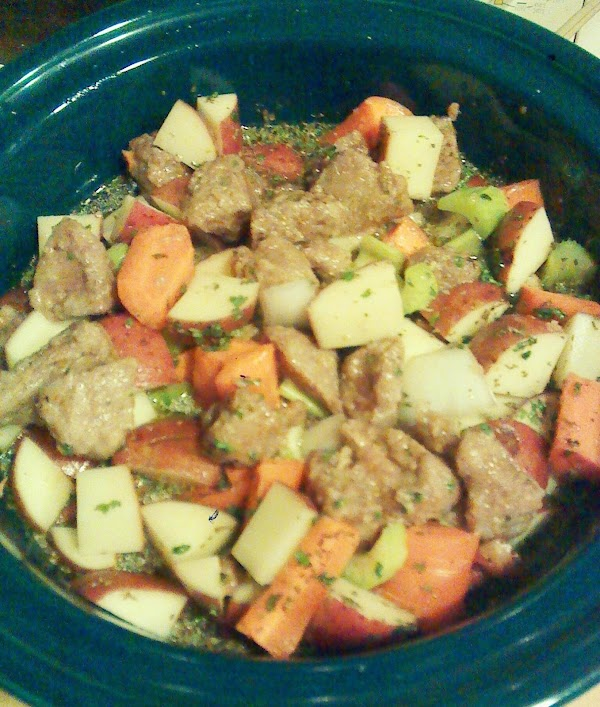 Ingredients added to the crock pot