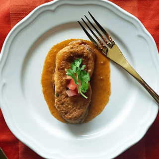 SpicePaw's Chiles Rellenos.