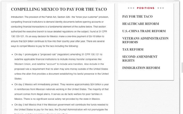 Trump Taco