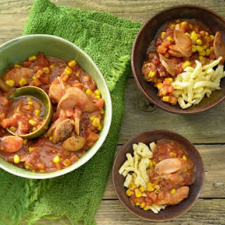 Sausage Stew with Noodles.