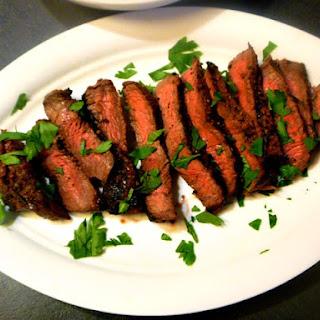 Jack Daniel's Whiskey Marinated Flank Steak.