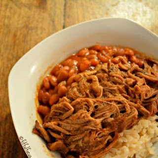 Easy Crockpot BBQ Pulled Pork Bowls {wheat/dairy/soy free}