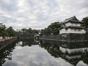 Photo: Moat and guard towers around imperial palace