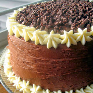 Chocolate Layer Cake with Cream Cheese Filling and Chocolate Buttercream.
