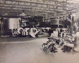 Photo: Mud fills the sheet metal department at the American Brass Company in Torrington.