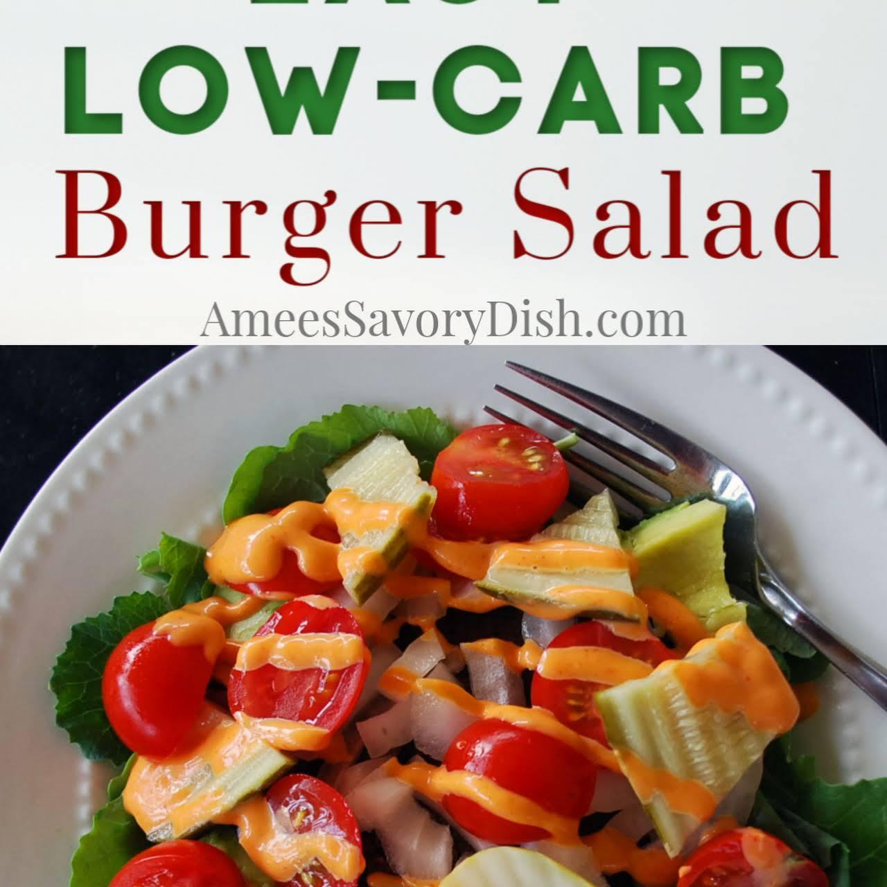 Burger Salad {Low Carb Hamburger Recipe}