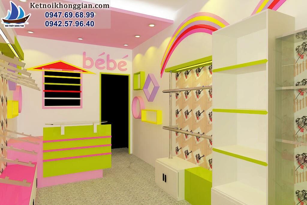 thiết kế shop thời trang trẻ em diện tích nhỏ tại hà nội