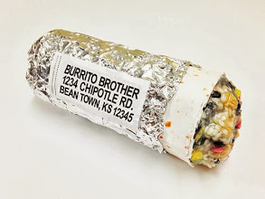 Photo: Fake Mailable Chipotle Burrito