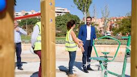El alcalde visitó las obras que se están realizando en el parque.