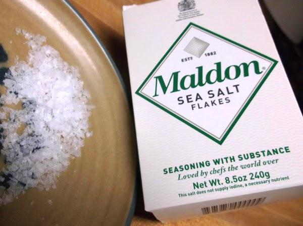 Garnish as desired. (I like extra chives and maldon salt flakes.)