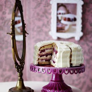 Italian Cherry and Cream Cheese Layer Cake.