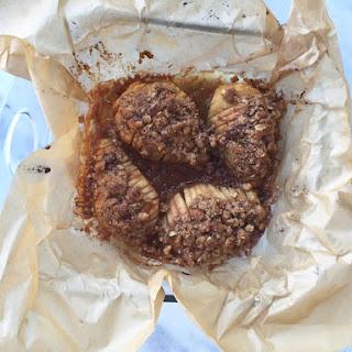 Cinnamon-Oat Hasselback Pears.