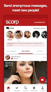Scorp-Meet people, Chat anonymously, Watch videos - náhled