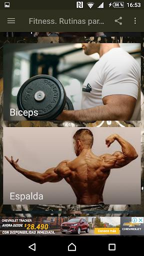 Fitness. Rutinas para el Gym Apk 2