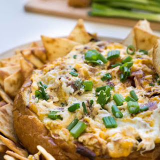Baked Bacon Cheddar Cheese Dip.