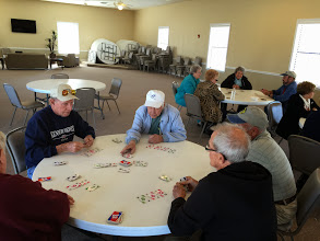 Photo: Card games, UNO etc...in the rec hall.