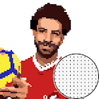Footballer Soccer Stars - Color By Number Game icon