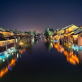 Water village by Crispin Lee - City,  Street & Park  Vistas