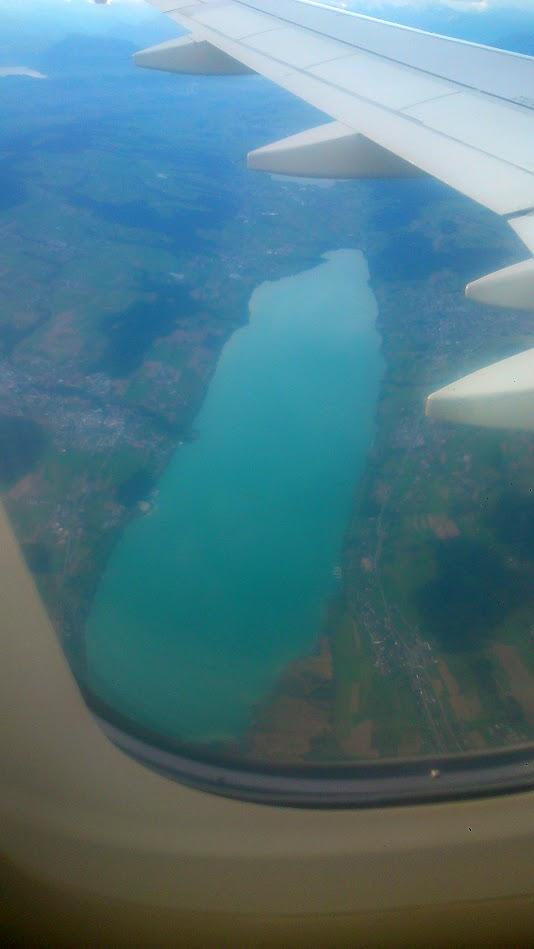 Сизое озеро и Цюрих из самолета