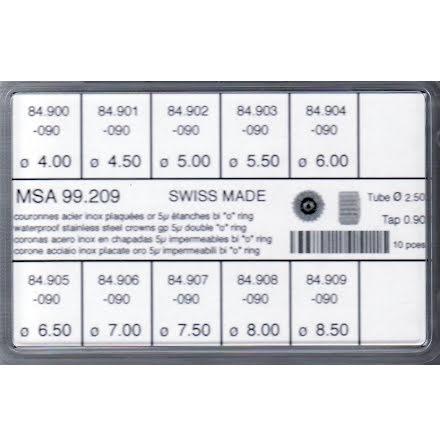 SORT. KRONOR 0,90 TUB250 2 PKN 10 ST DOUBLÉ 5mic 4-8,5 mm