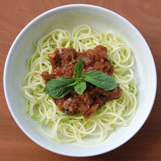 Zoodles with Mushroom Bolognese