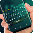 Green Water Droplet Glass Keyboard Skin Raindrop apk