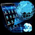 3D Hologram Earth Theme icon