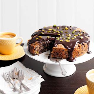 Dark Chocolate, Pear And Pistachio Cake.