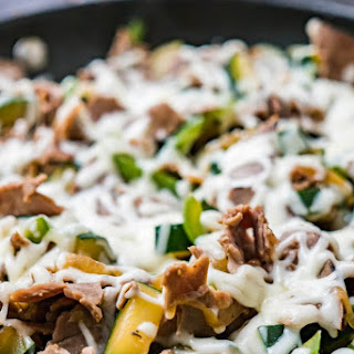 20 Minute Cheesesteak Skillet.