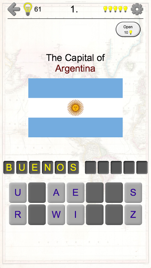 American Countries And Caribbean Flags Maps Quiz Android Apps - Argentina map quiz