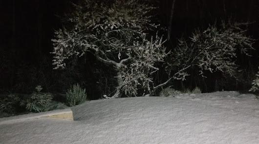 La nieve hace su aparición en la provincia en pleno mes de marzo