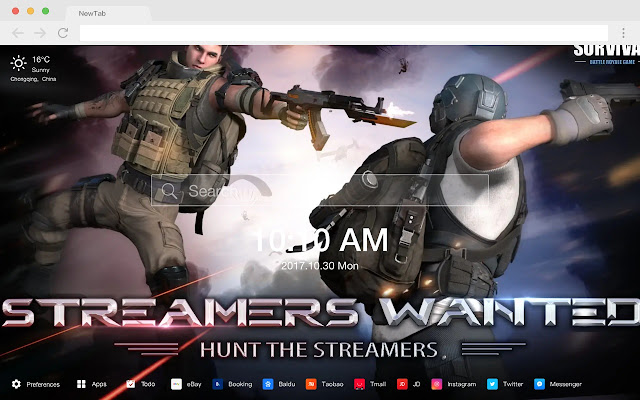 Rules of Survival New Tab Page Game HD Themes