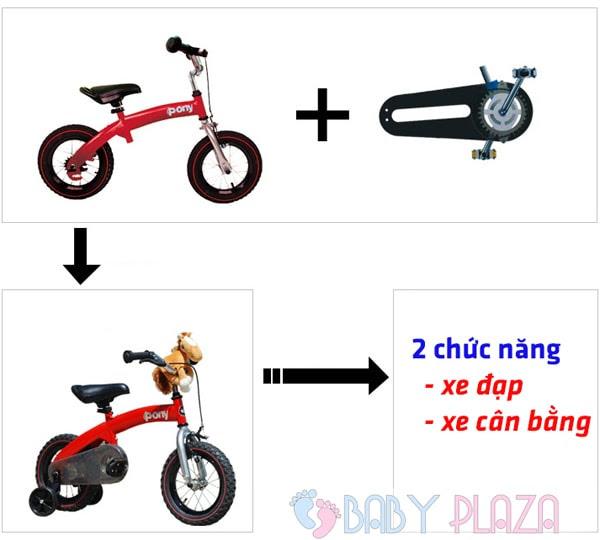 Xe đạp 2 trong 1 Royal baby PONY B-4 1
