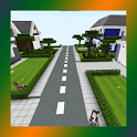 School and Neighborhood. Map for MCPE icon