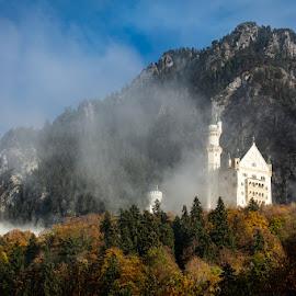 Neuschwanstein Castle by VAM Photography - Buildings & Architecture Public & Historical ( places, mountains, castle, clouds, travel, landscape, architecture )