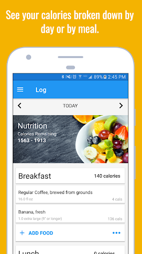 Calorie Counter & Diet Tracker Screenshot