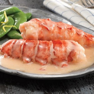Butter Poached Lobster Tails.