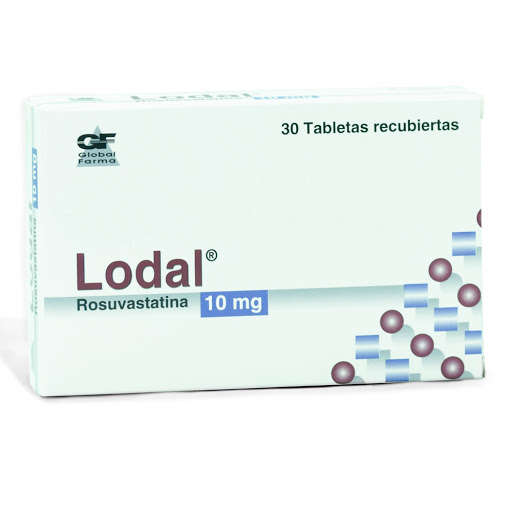 rosuvastatina lodal 10mg 30tabletas global farma