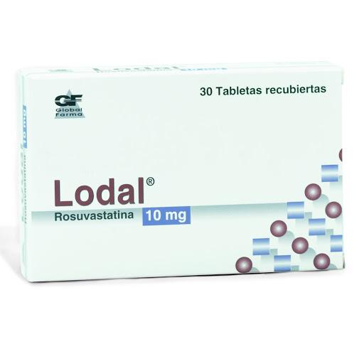 rosuvastatina lodal 10mg 30tabletas global farma